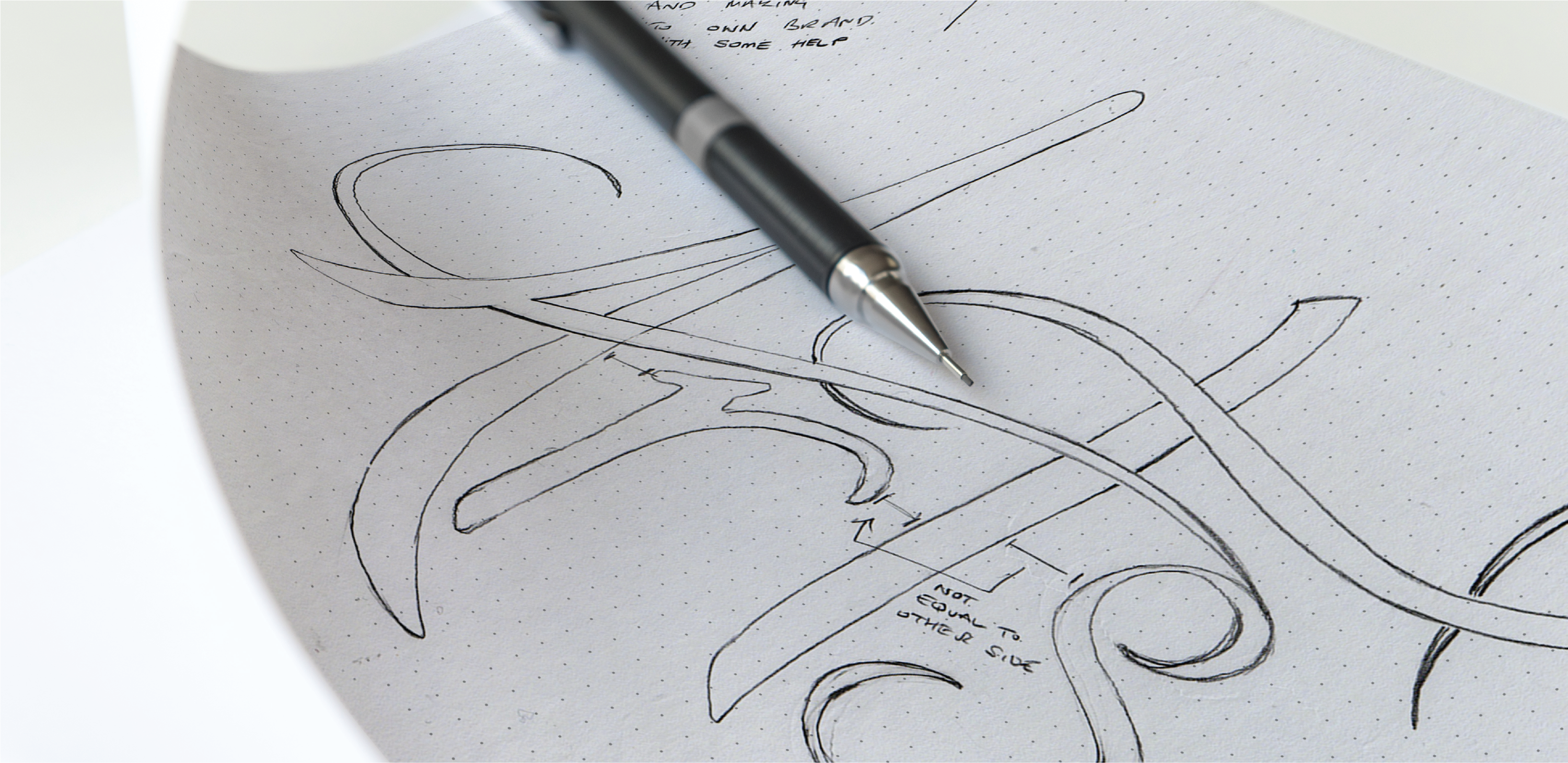 Creating User Experiences | The Process | Ampersans-sky-arts-lettering-typography-sketching